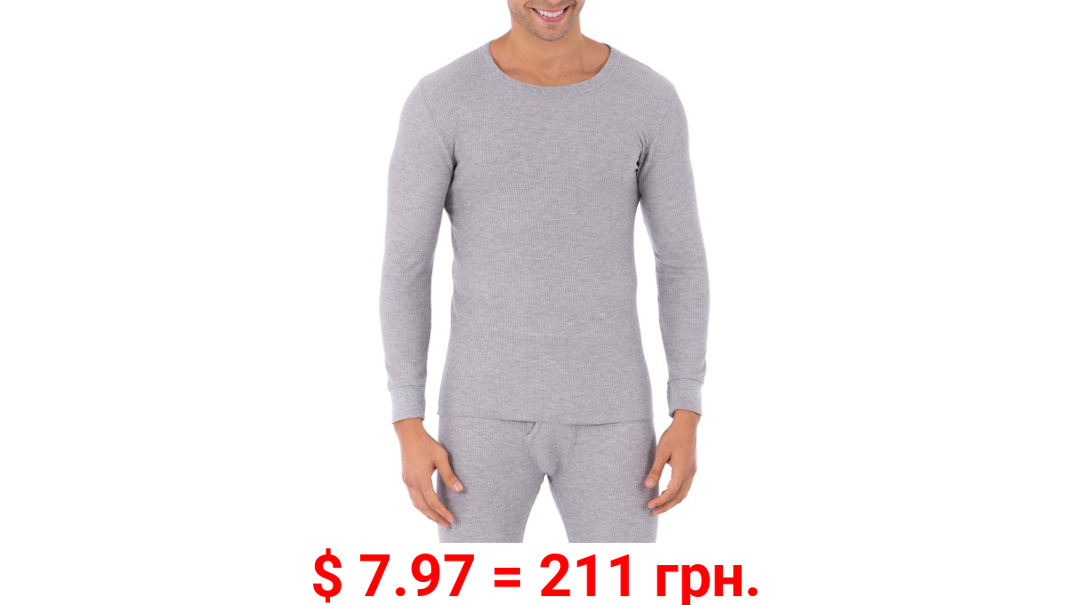 Fruit of The loom Men's Waffle Baselayer Crew Neck Thermal Top