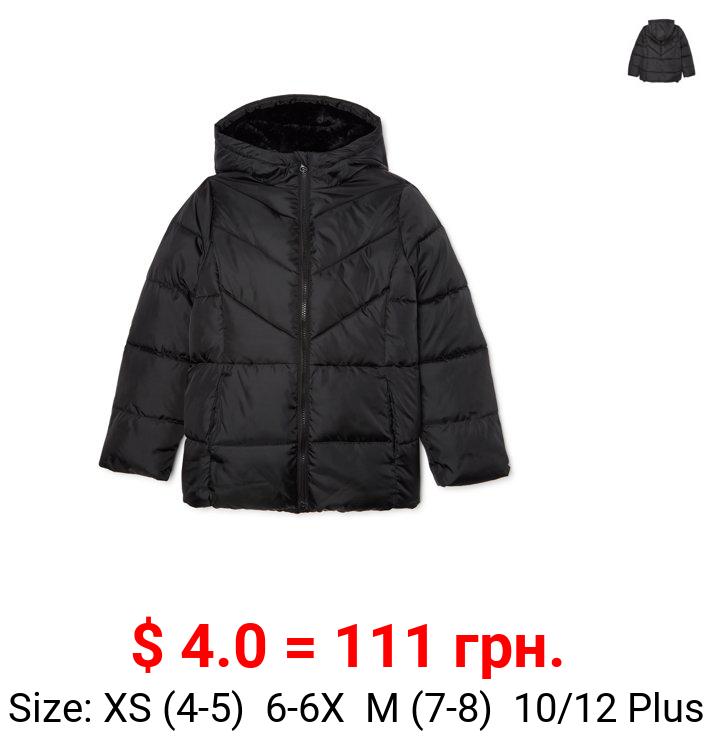 Wonder Nation Girls Bubble Puffer Jacket, sizes 4-18 & Plus