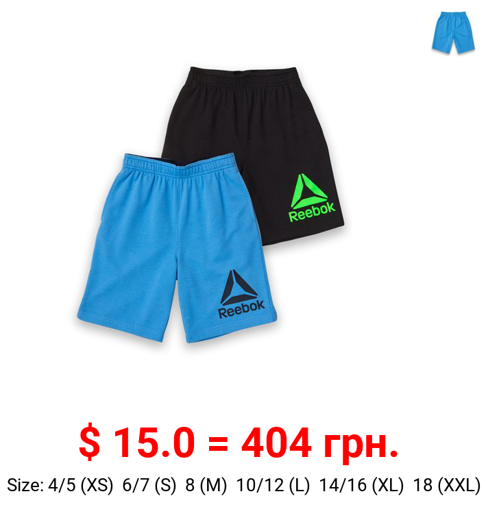 Reebok Boys Athletic Performance 2-Pack Shorts, Size 4-18