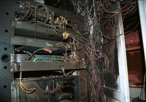 Интернет сломался у клиентов ТТК из-за пожара