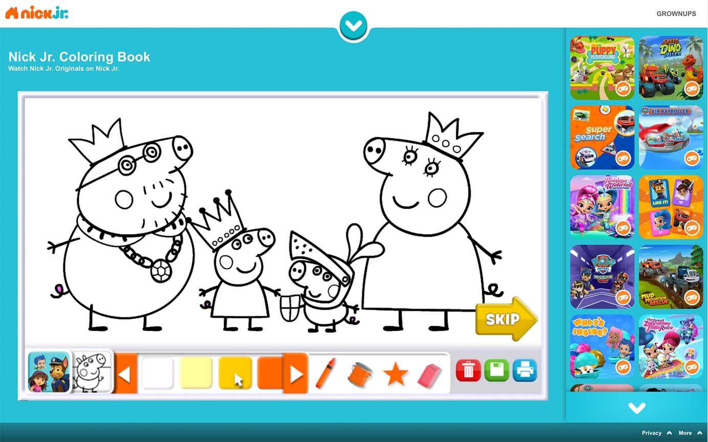 Игра «Книжка-раскраска»  содержала аудиоинструкцию, но просила детей использовать мышь для работы.
