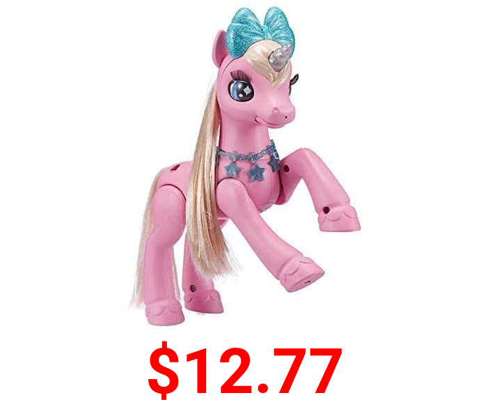 Pets Alive My Magical Unicorn Battery-Powered Interactive Robotic Toy (Pink Unicorn) by ZURU