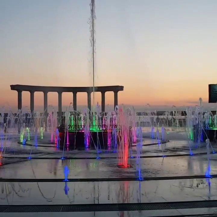 Пешеходный фонтан включат на набережной Хабаровска