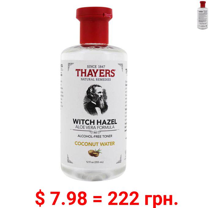 Thayers - Witch Hazel Aloe Vera Formula Alcohol Free Facial Toner Coconut Water - 12 fl. oz.
