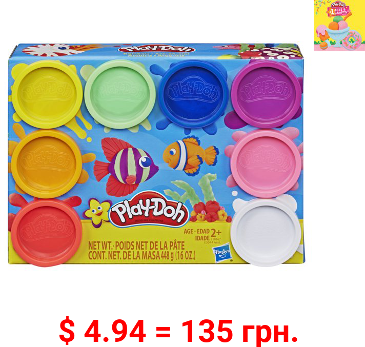 Play-Doh 8 Color Rainbow Pack of Play-Doh (16 Ounces Total)
