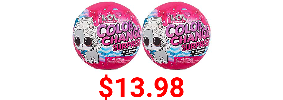 LOL Surprise Color Change Pets 2 Pack Exclusive with 6 Surprises Each Including Outfits and Accessories for Collectible Pet Doll Toys