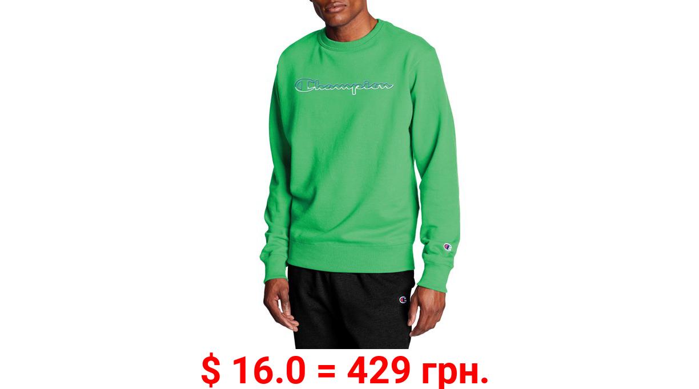 Champion Men's Powerblend Fleece Crew Sweatshirt with Split Script Logo