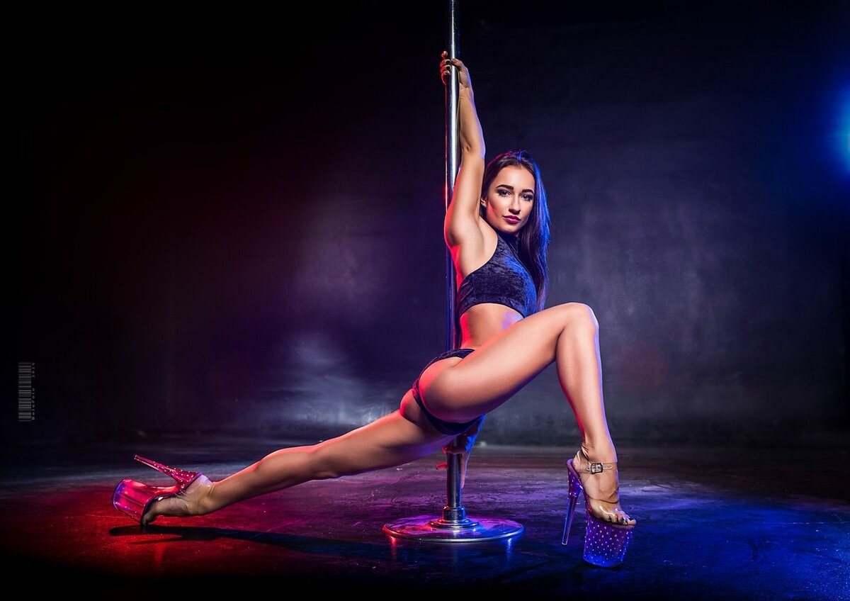 Striptease for burlesque, exotic dance and every dayinstant photo