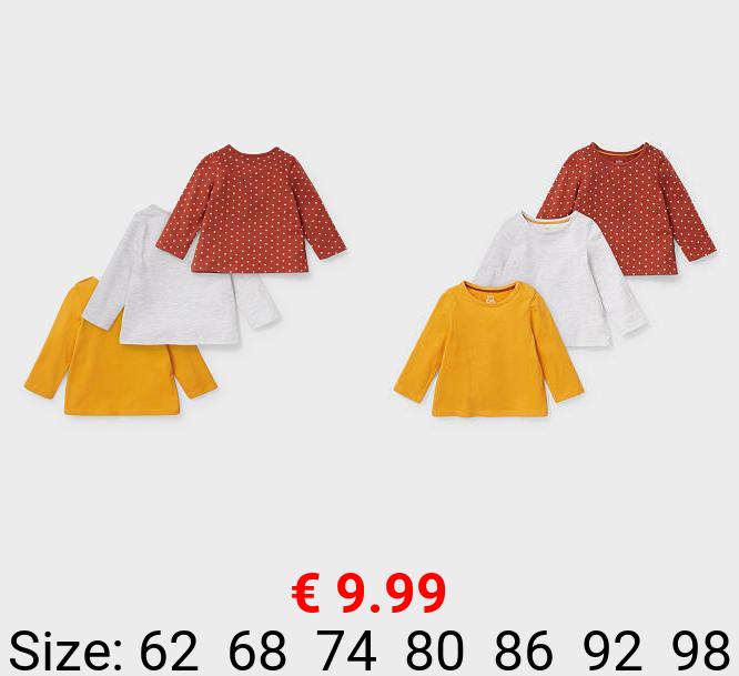 Multipack 3er - Baby-Langarmshirt - Bio-Baumwolle