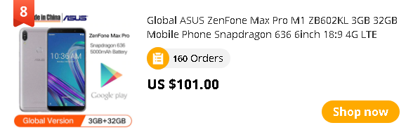 Global ASUS ZenFone Max Pro M1 ZB602KL 3GB 32GB Mobile Phone Snapdragon 636 6inch 18:9 4G LTE Smartphone