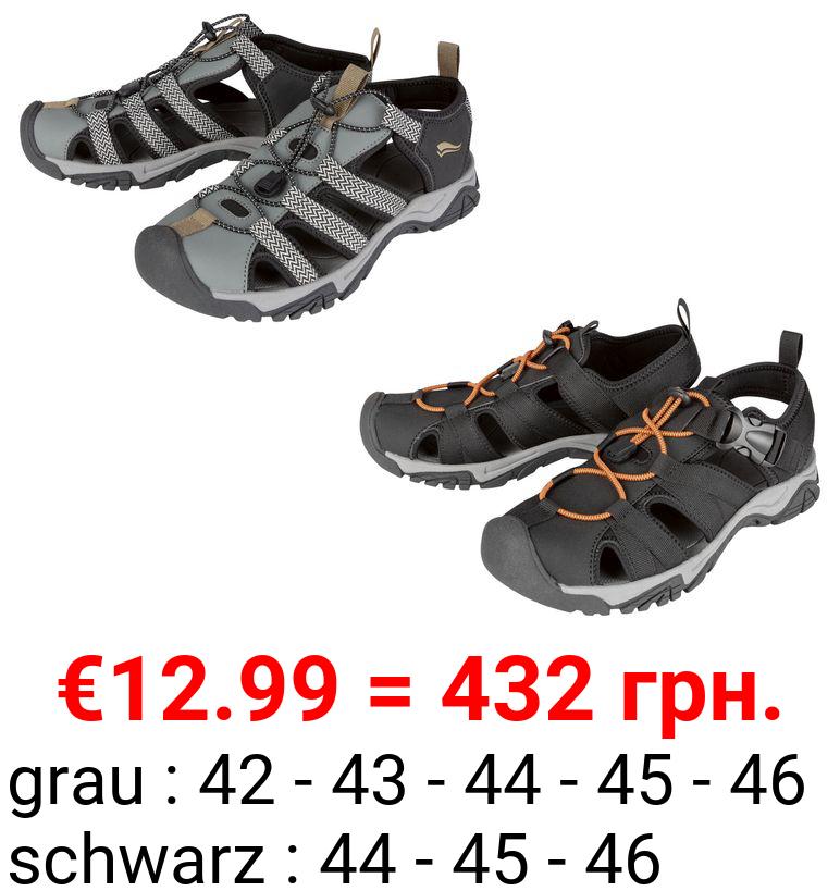 CRIVIT® Sandale Herren, verstellbarer Klettverschluss