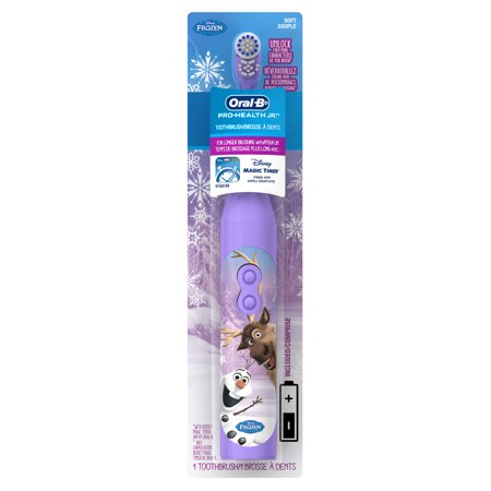 (2 pack) Oral-B Pro-Health Jr. Battery Powered Kid's Toothbrush featuring Disney's Frozen, Soft, 1 ct