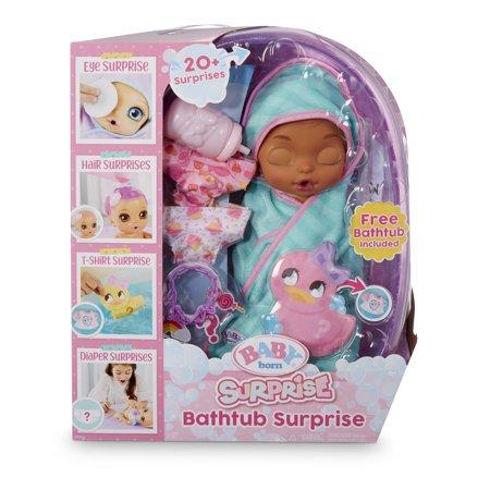 Baby Born Surprise Bathtub Surprise Teal Swaddle Princess w/ 20+ Surprises