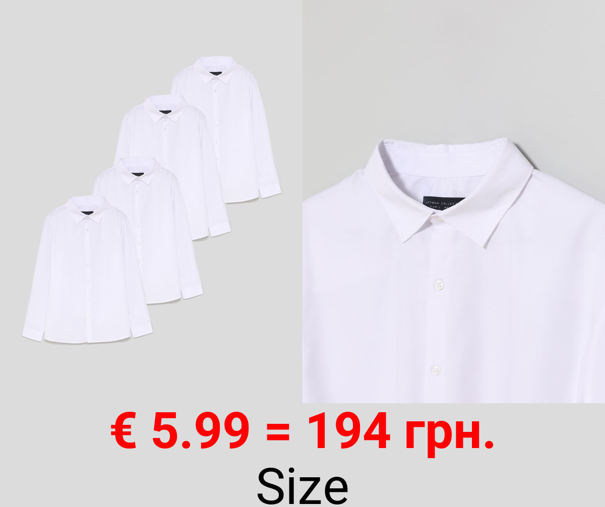 Pack of 4 basic easy to iron shirts