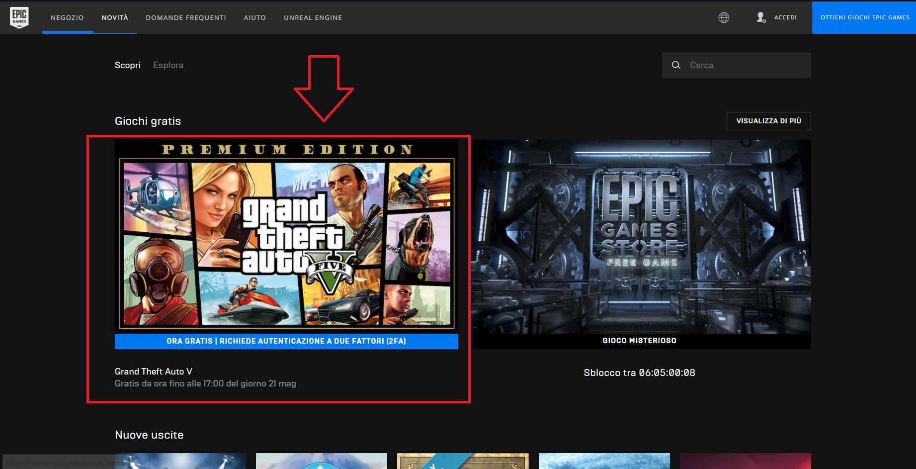 EpicGames regala GTA V!