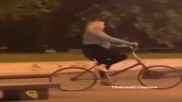 Borracha y en bicicleta