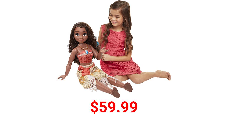 "Jakks Disney Moana Doll 32"" Tall Playdate Perfectly Poseable Includes Hair Comb (Model: 48960-1)"