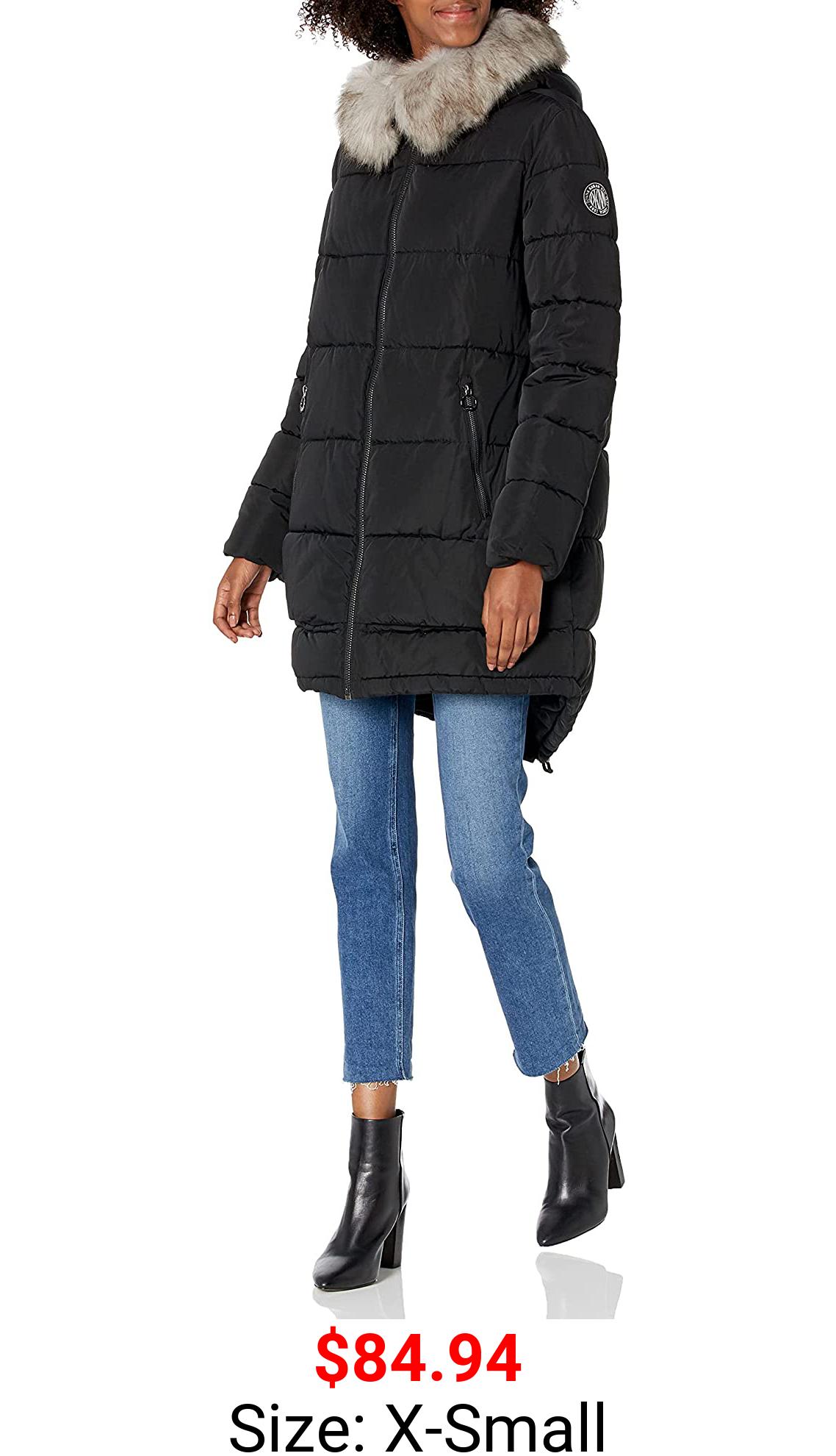 DKNY Women's Down Puffer Coat