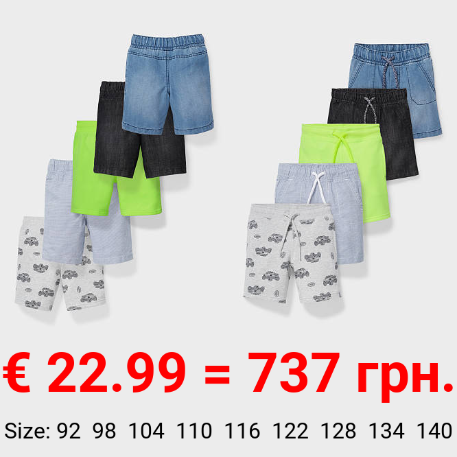 Multipack 5er - Jeans-, Sweat- und Stoffshorts