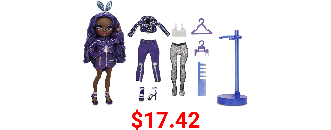 Rainbow High Krystal Bailey – Indigo (Dark Purple) Fashion Doll with 2 Outfits to Mix & Match and Doll Accessories, Great Gift and Toy for Kids 6-12 Years Old