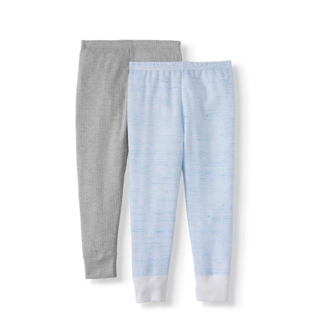 Fruit of the Loom Boys Thermal Pants Super Soft Mini Waffle Thermal Underwear- 2 Pack, (Little Boys & Big Boys)