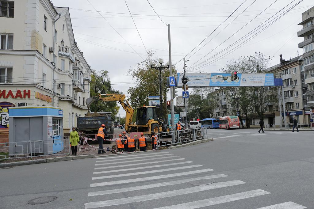Центр Хабаровска уходит под землю