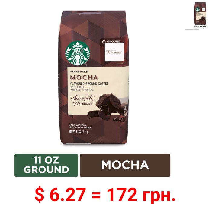 Starbucks Flavored Ground Coffee — Mocha — No Artificial Flavors — 1 bag (11 oz.)