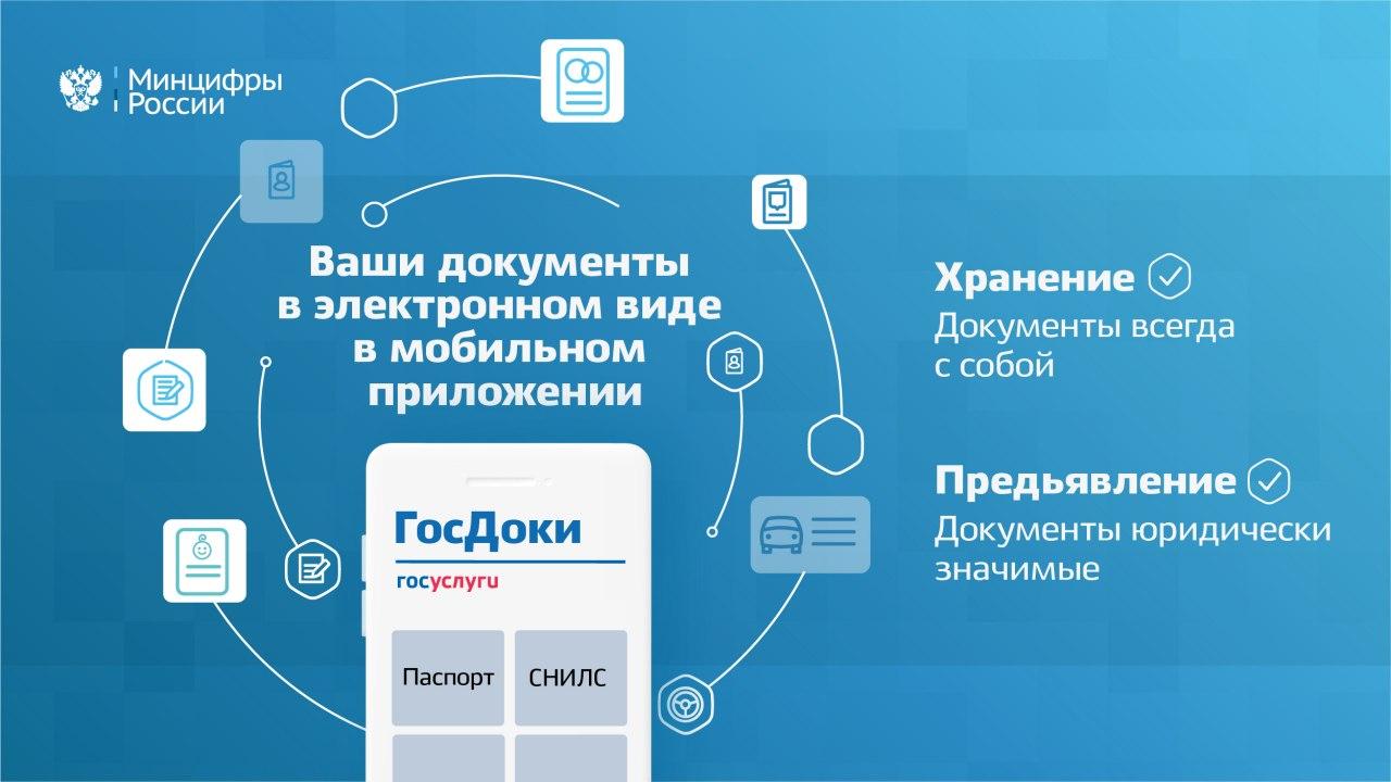 «ГосДоки» - приложение для хранения и предъявления паспорта