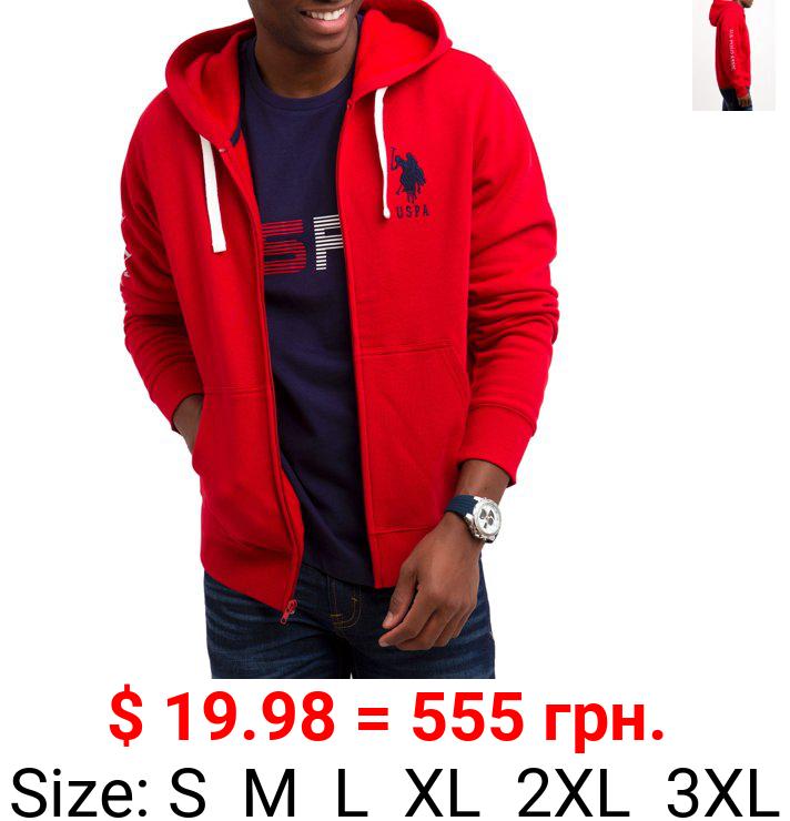 U.S. Polo Assn. Men's Fleece Full Zip Hoodie