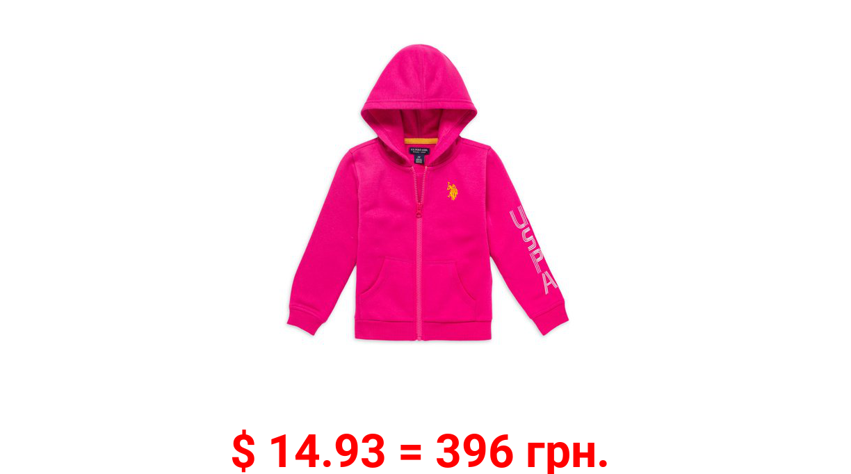 U.S. Polo Assn. Girls Zip-Up Fleece Hoodie, Sizes 4-18