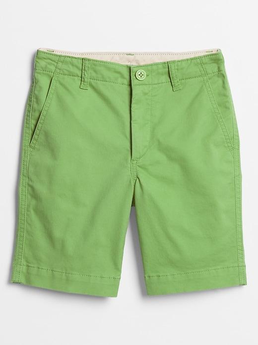 Kids Print Shorts in Twill