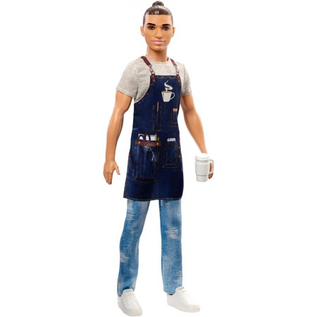 Barbie Ken Careers Barista Doll with Coffee-Themed Accessories