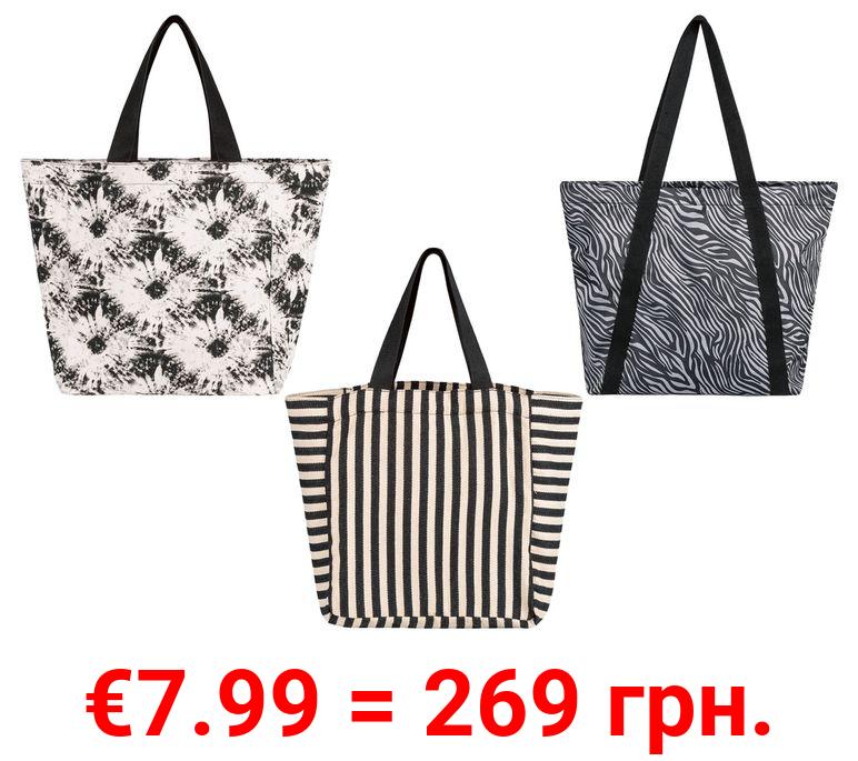 ESMARA® Strandtasche Damen, mit Reißverschluss
