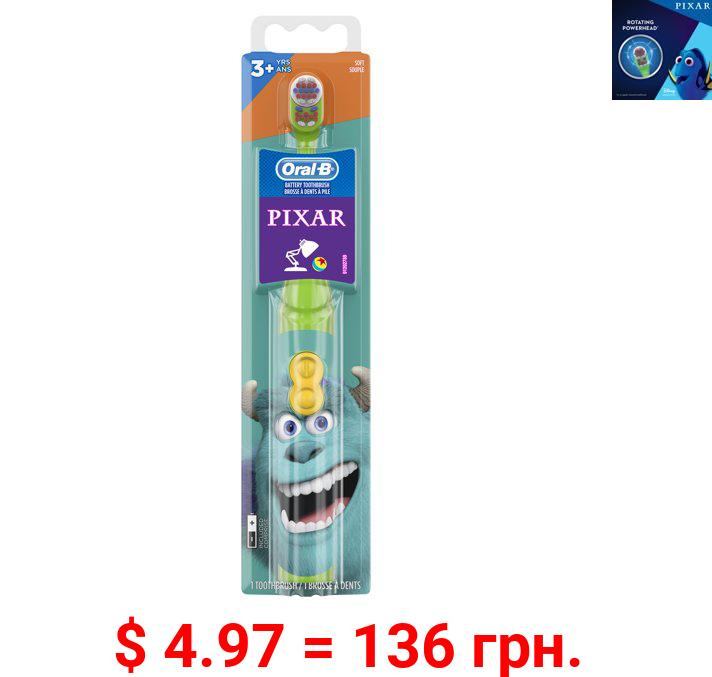 Oral-B Kid's Battery Toothbrush, Pixar Favorites, Soft Bristles