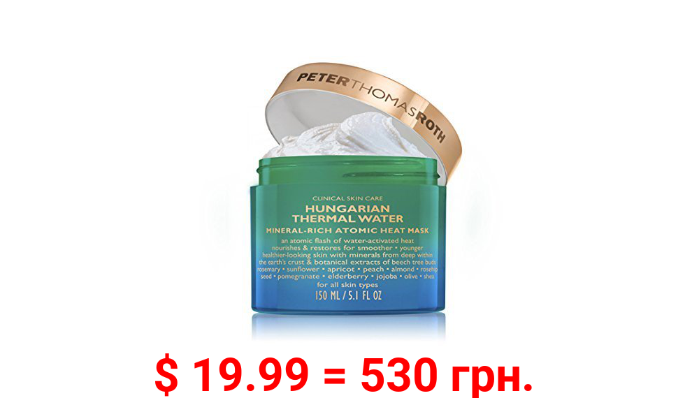 Peter Thomas Roth Hungarian Thermal Water Mineral-Rich Atomic Heat Face Mask, 5.1 Oz