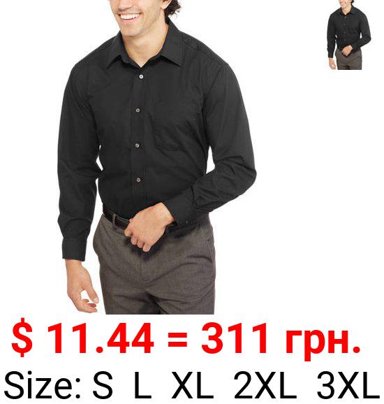 George Men's Long Sleeve Poplin Dress Shirt