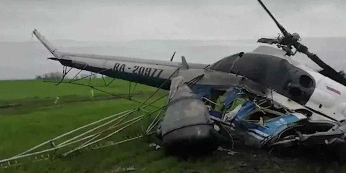Вертолет с туристами упал на Камчатке