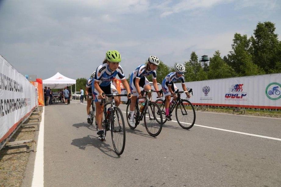 Женская сборная края по велоспорту выиграла чемпионат России в Хабаровске