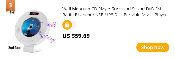 Wall Mounted CD Player Surround Sound DVD FM Radio Bluetooth USB MP3 Disk Portable Music Player Remote Control With LED Display