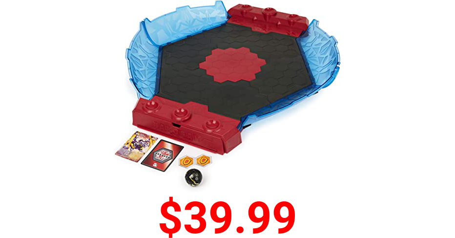 Bakugan Battle League Coliseum, Deluxe Game Board with Exclusive Fused Howlkor x Serpenteze, for Ages 6 and up