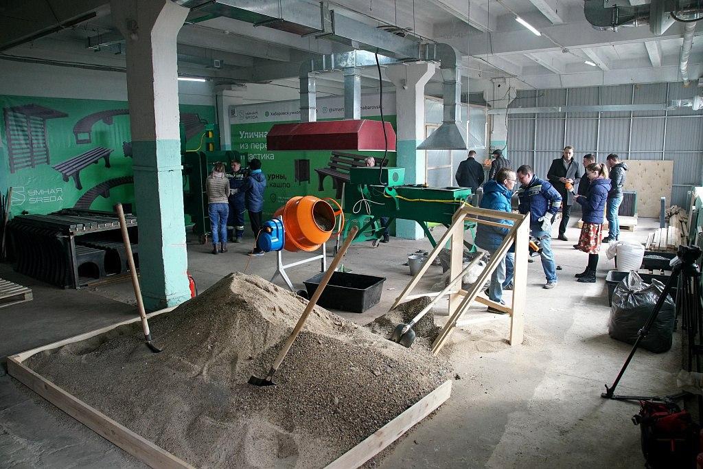 Полимерно-песчаный завод заработал в Хабаровске