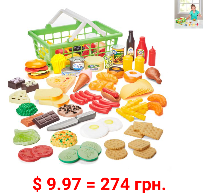 Kid Connection Play Food Set, 100 Pieces