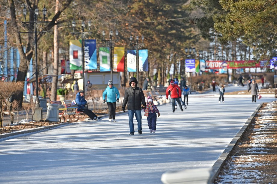 В Хабаровске выберут лучшее оформление ледового катка