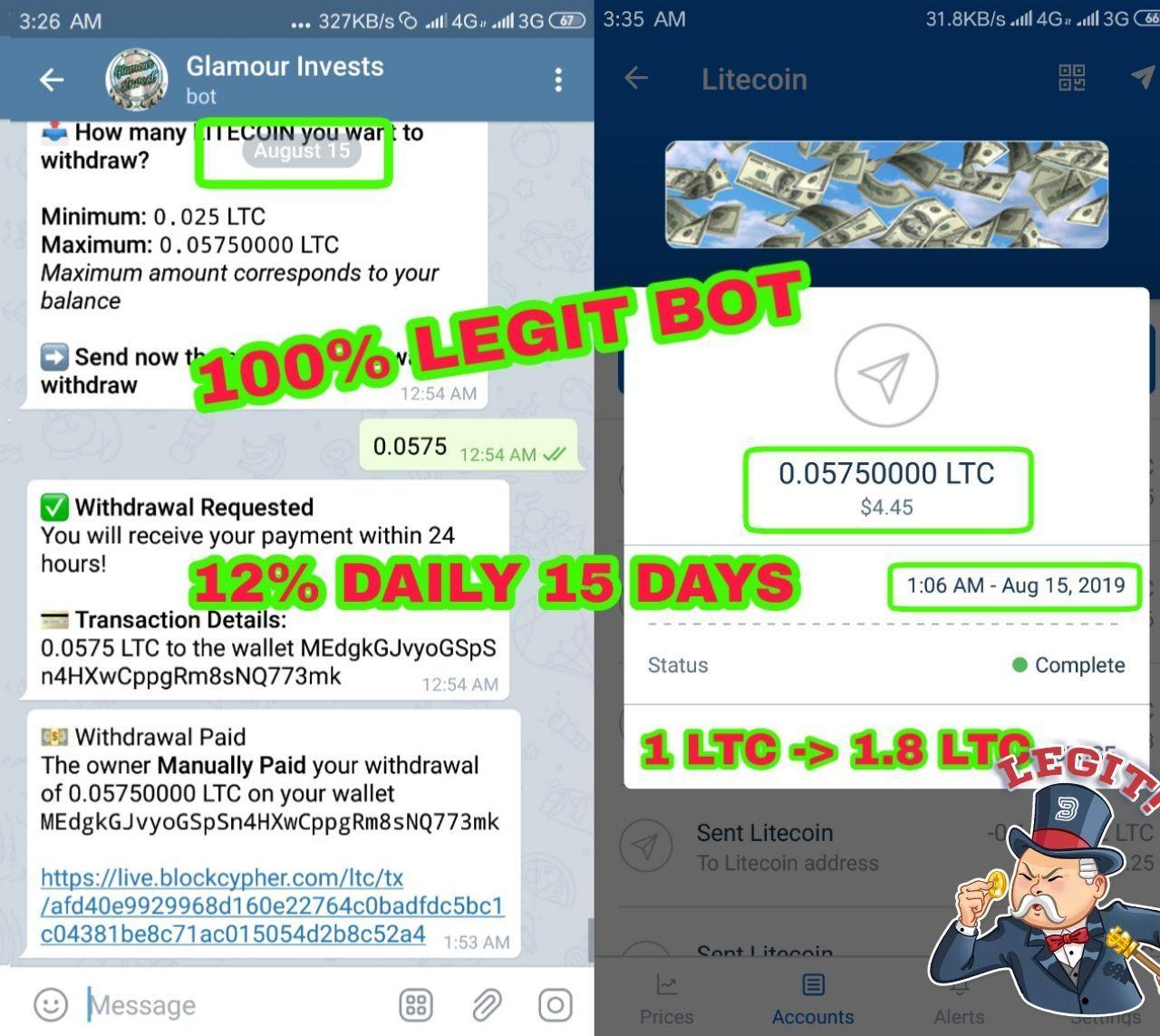 Legit Bots: 🥳 Nᴇw Multy Currency