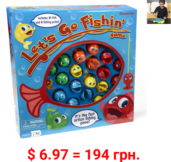 Pressman Let's Go Fishin' Game - The Original Fast-Action Fishing Game for Kids