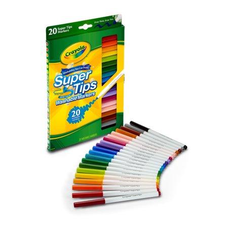 Crayola Washable Super Tip Marker Set, 20-Color