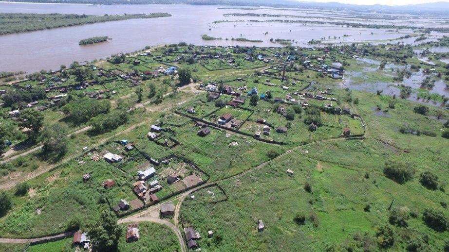 Дачные участки подтоплены в Хабаровске