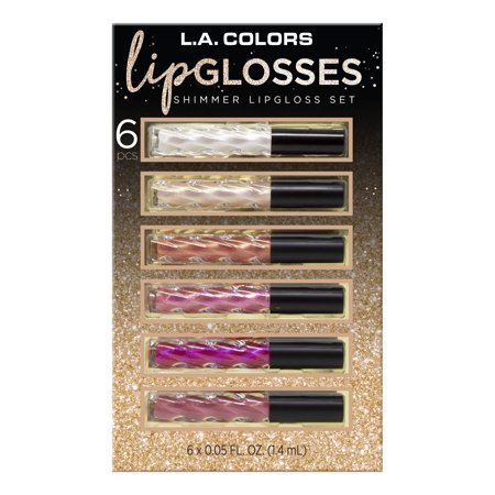 ($15 Value) L.A. Colors Glimmer Lipglosses Gift Set, 6 Pieces