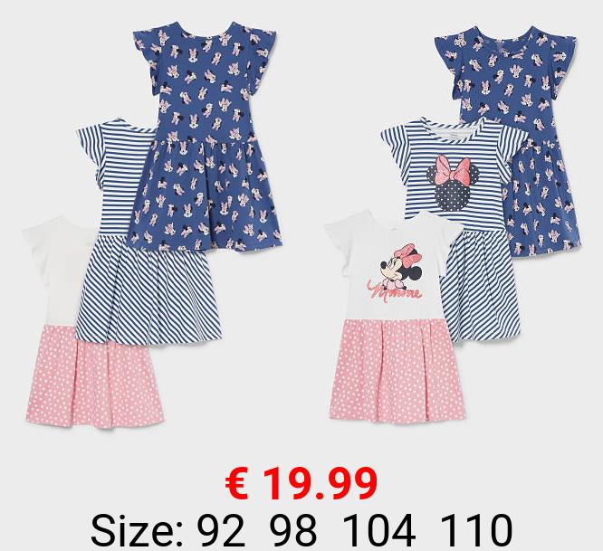 Multipack 3er - Minnie Maus - Kleid - Bio-Baumwolle