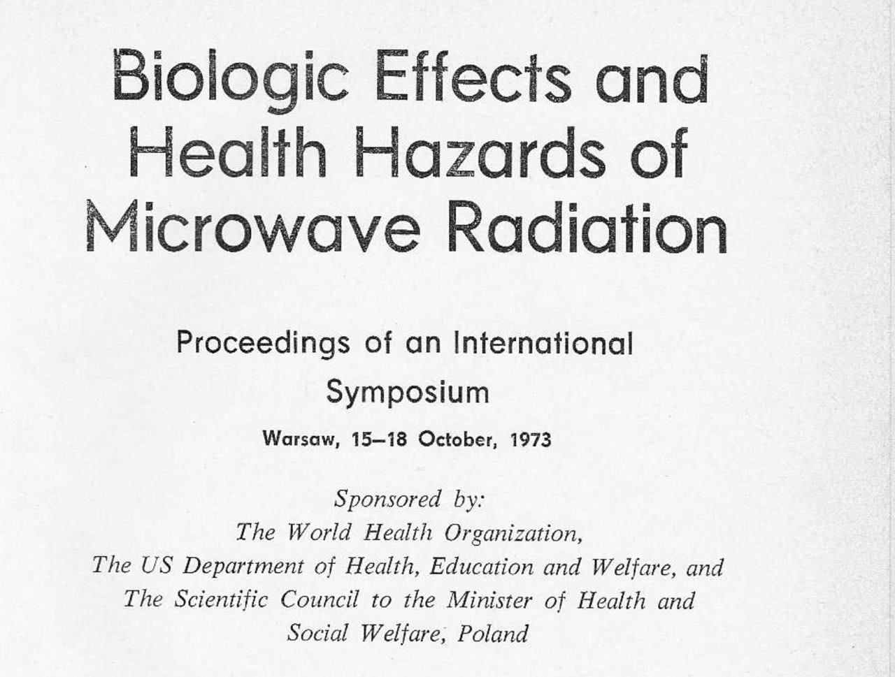 «Биологические эффекты влияния на здоровье электромагнитных излучений», 1973 г.